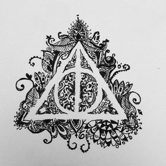 Harry Potter Black And White Drawing Harry Potter And The