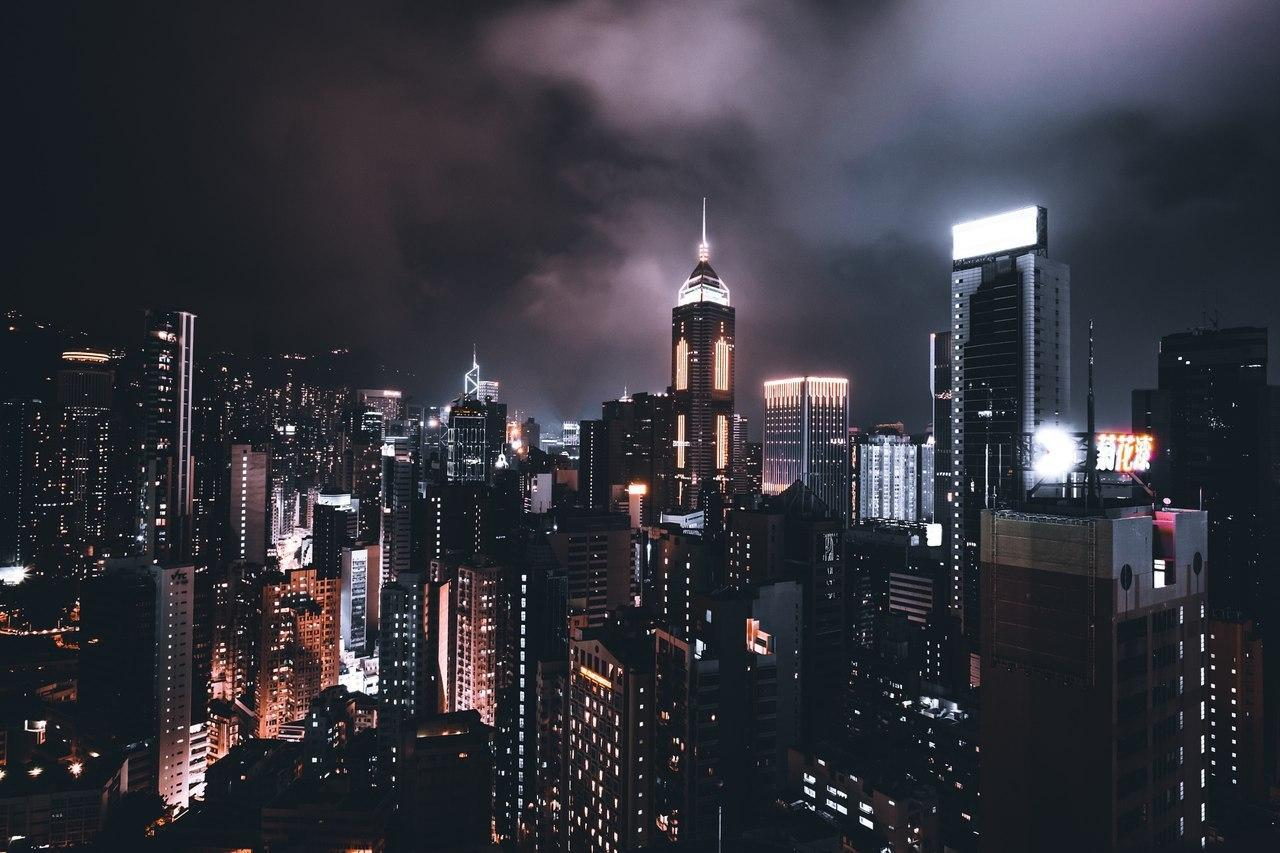bright, buildings, city and city lights