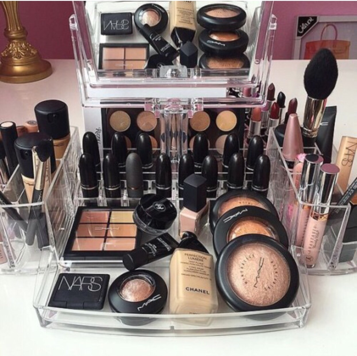 blush, brushes, concealer and cosmetics
