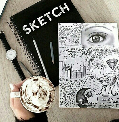 Book Cover Ideas We Heart It ~ Sketchbook ideas image by bobbym on favim