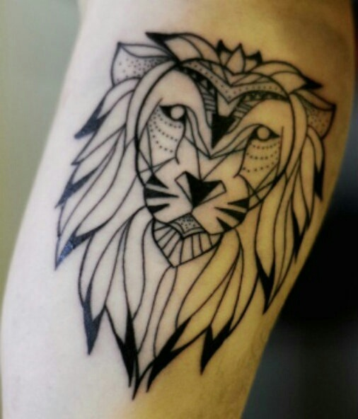 Tattoo image 4304926 by olga b on for Black and white lion tattoo