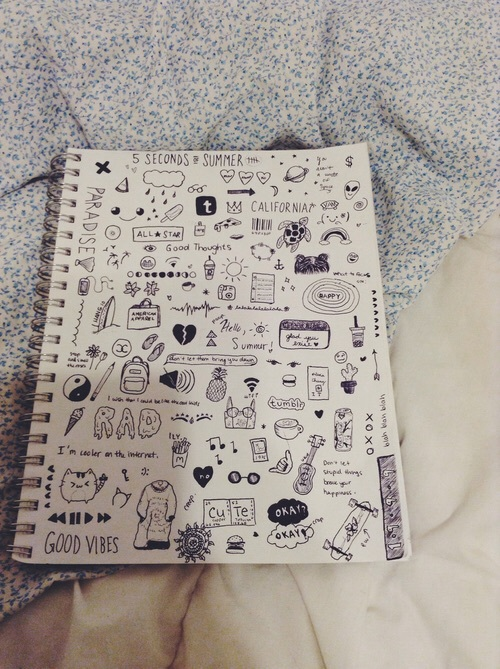 Doodles grunge notebook tumblr image 4404726 by for Tumblr hand doodles