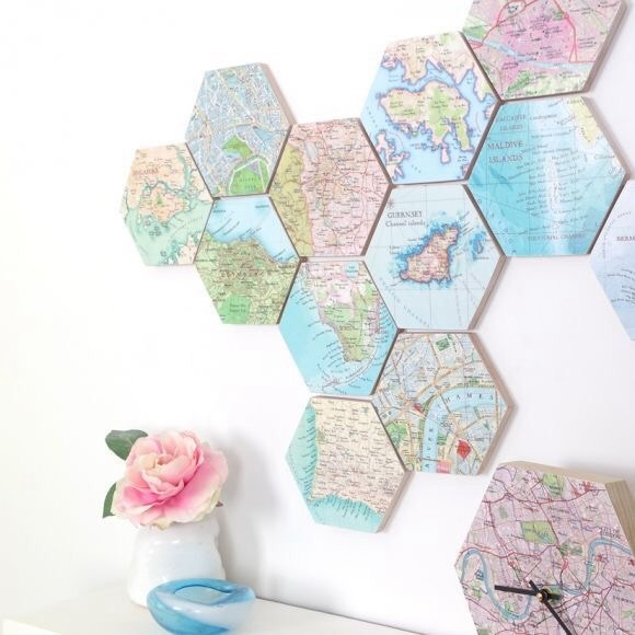 Diy map pastel room decor image 4535236 by for Pastel diy room decor