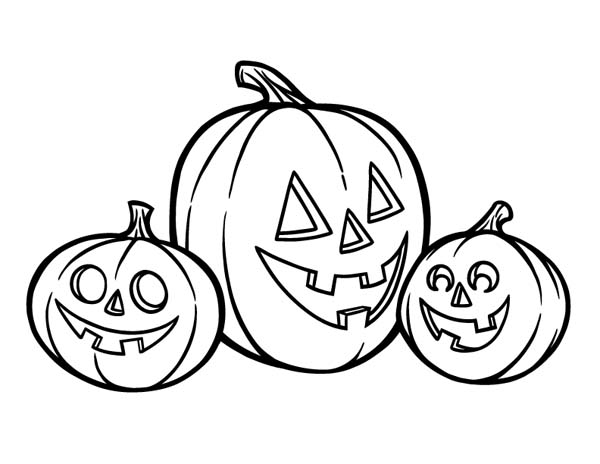 Pumpkin Colouring Pages for Halloween Coloring Templates