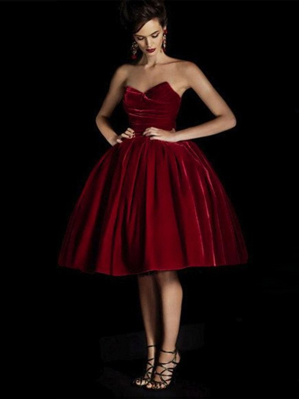 0e91d3e4d848 A-line Sweetheart Knee-length Tulle Homecoming Dress Short Prom Dress –  AmyProm