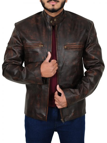 Tom Cruise Jacket, Distressed Leather Jacket