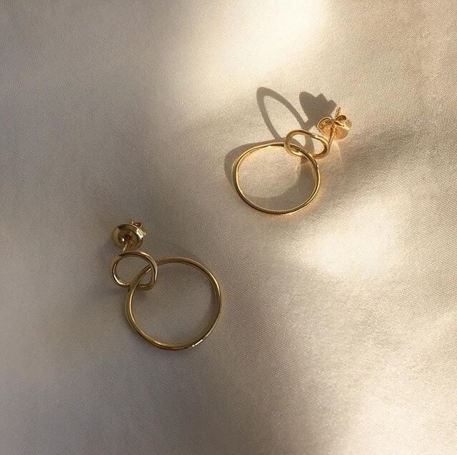 boucle d'oreilles, Or, earings and kfashion
