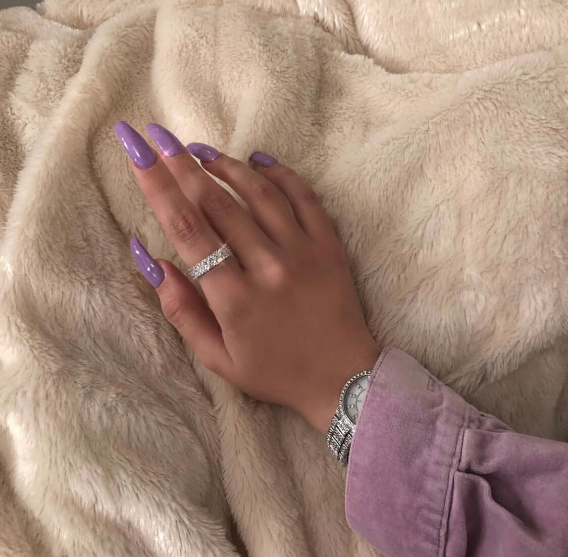 claws inspo, stylé, girly inspiration and nails purple