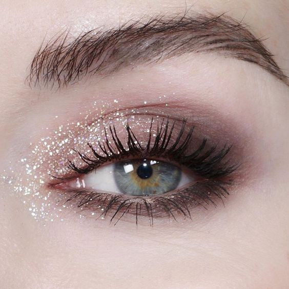 in, eyelashes, eyebrow and sparkle