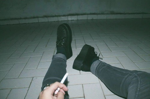 Grudge, cigs, dark and lonely