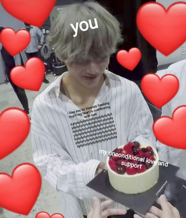 love, meme, support and taehyung