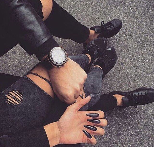 all, black, couple and everything