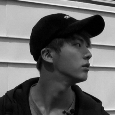 black and white, bts, cap and jin
