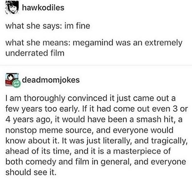 funny, hilarious, megamind and movies