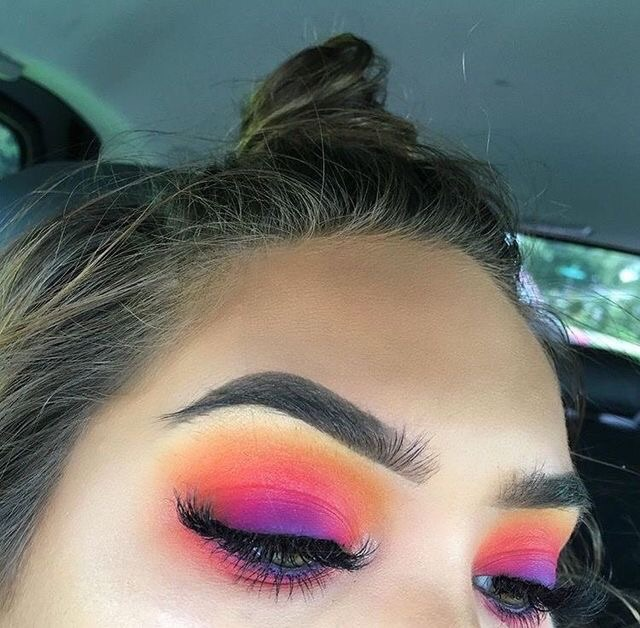 beauty, bright, colors and eyeshadow