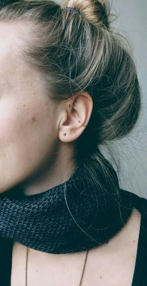 forward, Piercings, tattoo and helix