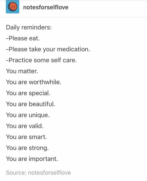 I Love You, self worth, anxiety and disorder