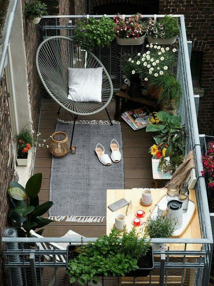 balcony, cozy, home and love this omg