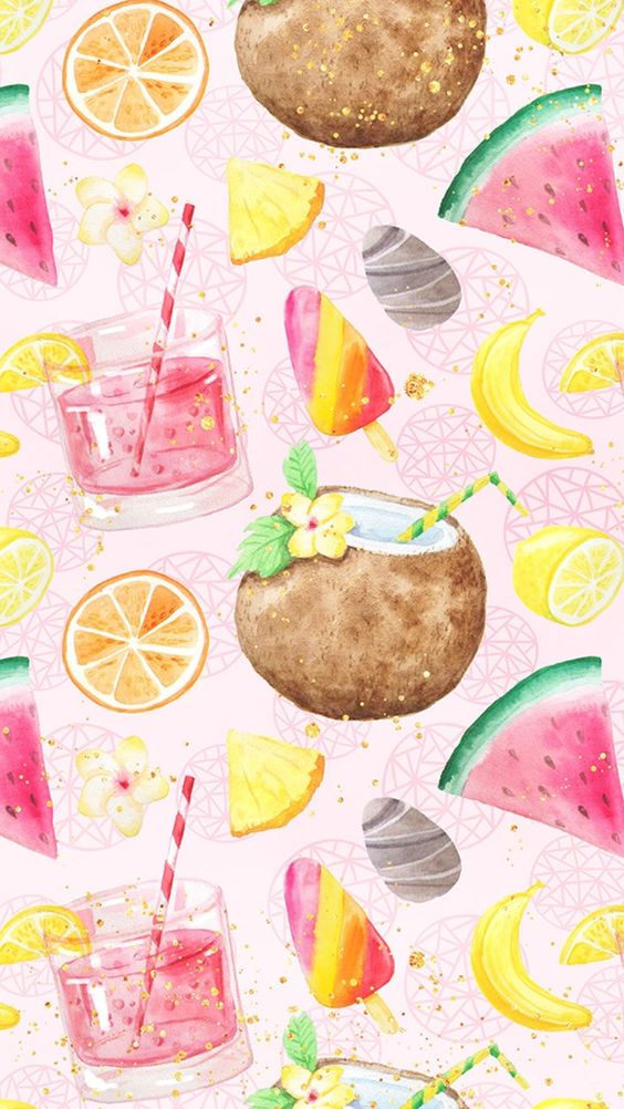 background, banana, coconut and drink