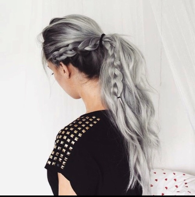 hair, braided, hairstyles and dyed