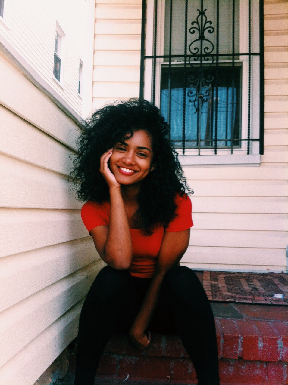 beautiful, black girls, curly hair and discover