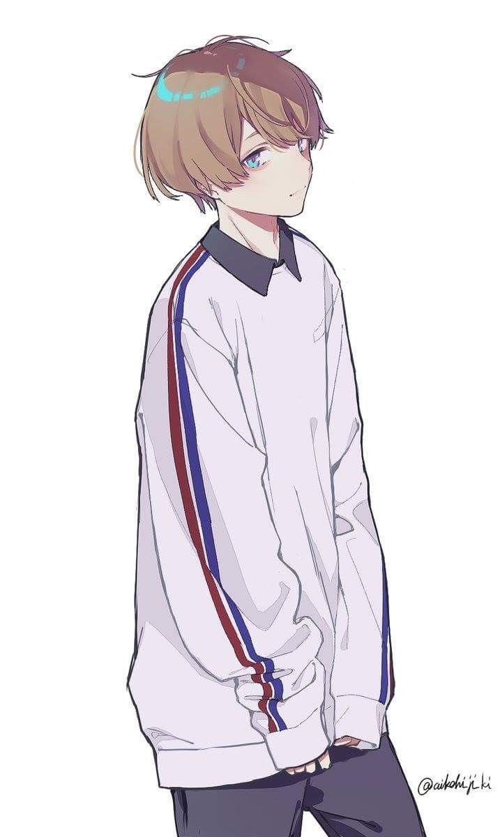 Brown Hair Boy Blue Eyes And White Hoodie Image 7146696 On Favim Com