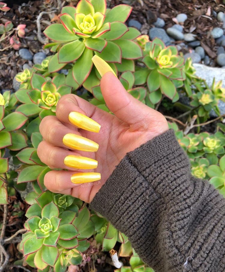 beauty, nails goals, hands and yellow nails