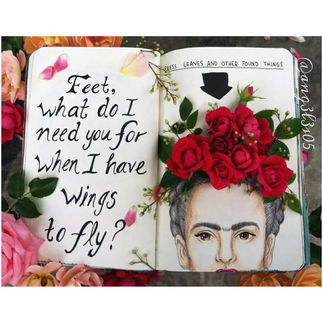 flowers, fly, art and wreck journal