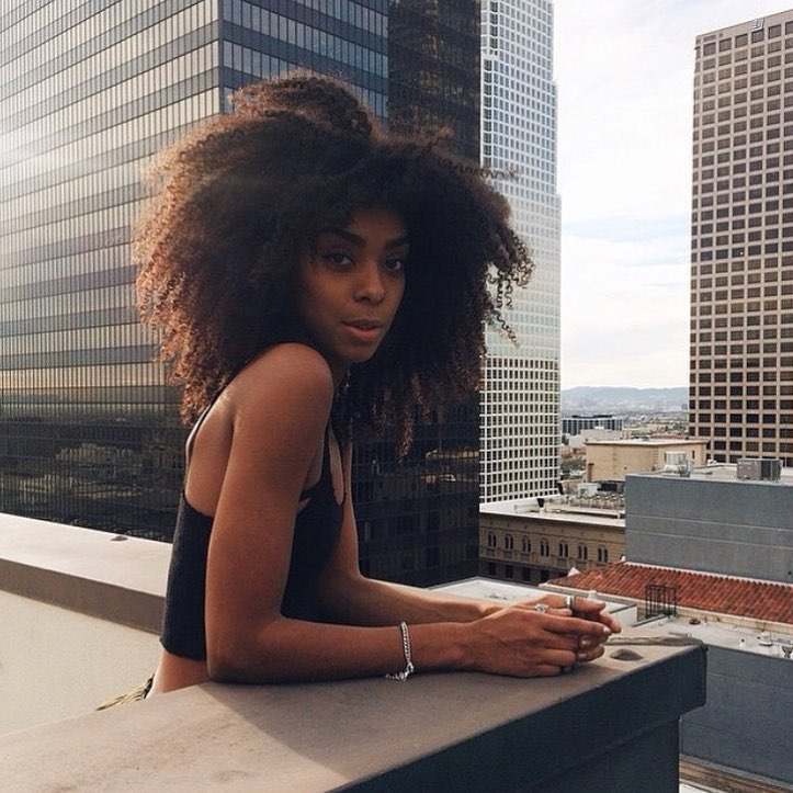 kinky hair, afro hair, curly girl and natural hair care