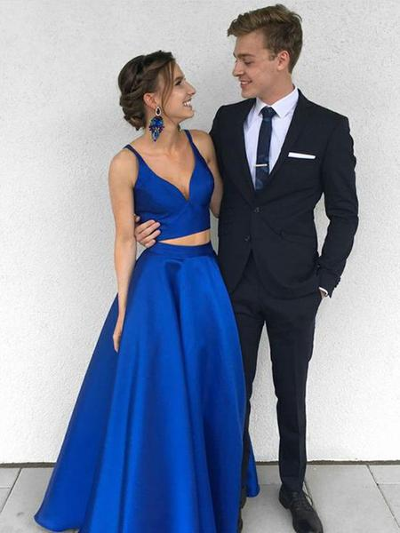 2 pieces formal dress, 2 pieces prom dress, Prom and beauty