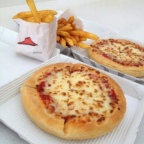 food, fries, pizza and yes