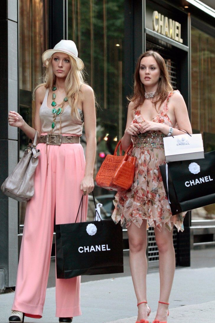 leighton meester, blake lively, gossip girl and series