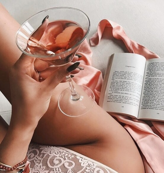 book, chill, drink and girl