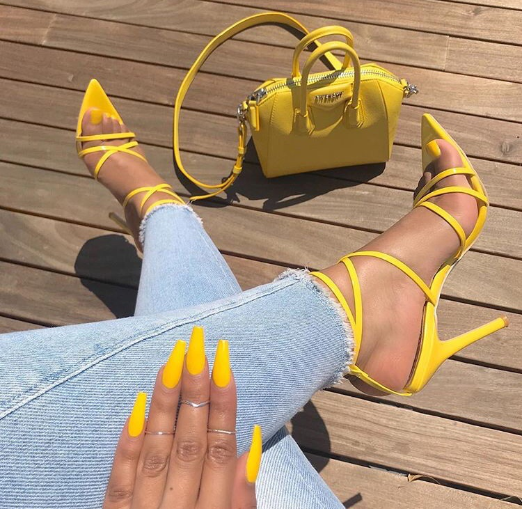 inspo inspiration, fashion style, yellow aesthetic and claws inspo