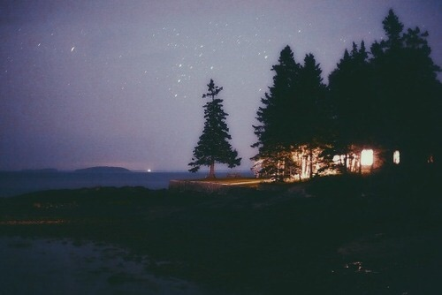 Late, adventure, beach and camping