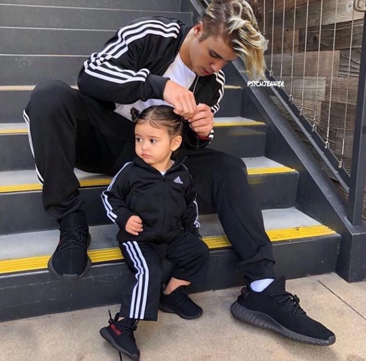 justin bieber, father and daughter