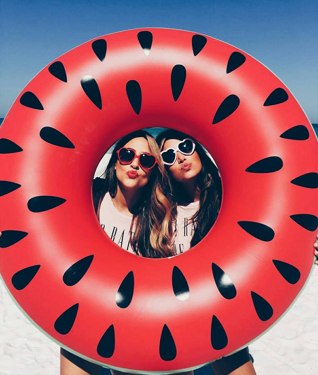 red, bestie, sunglasses and friends