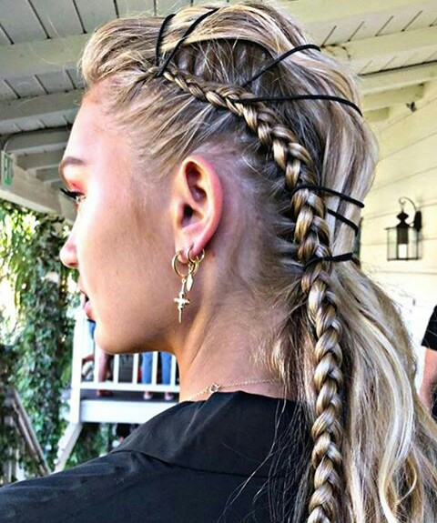 romee strijd, hairstyle, diy and model