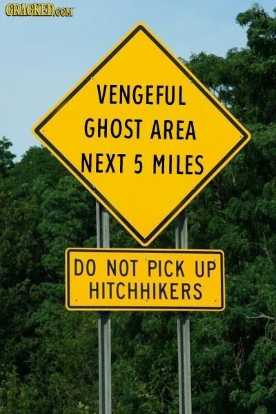 horror, funny, quotes and signpost