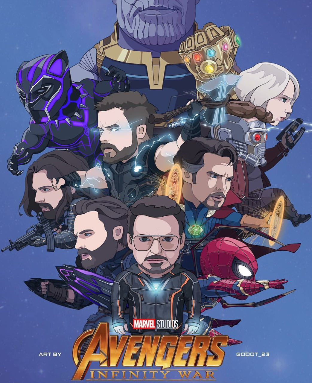 thor, black panther, doctor strange and captain america