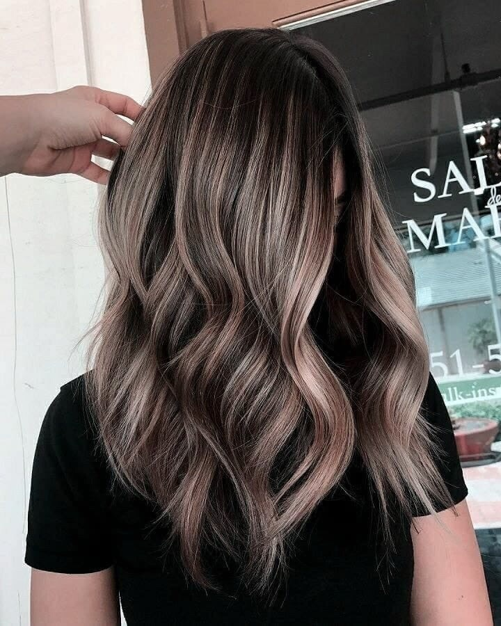 long hair, haircut, brunette and ombre