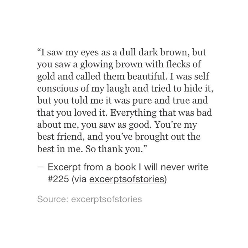 quote, excerptofstories, brown eyes and saw the good