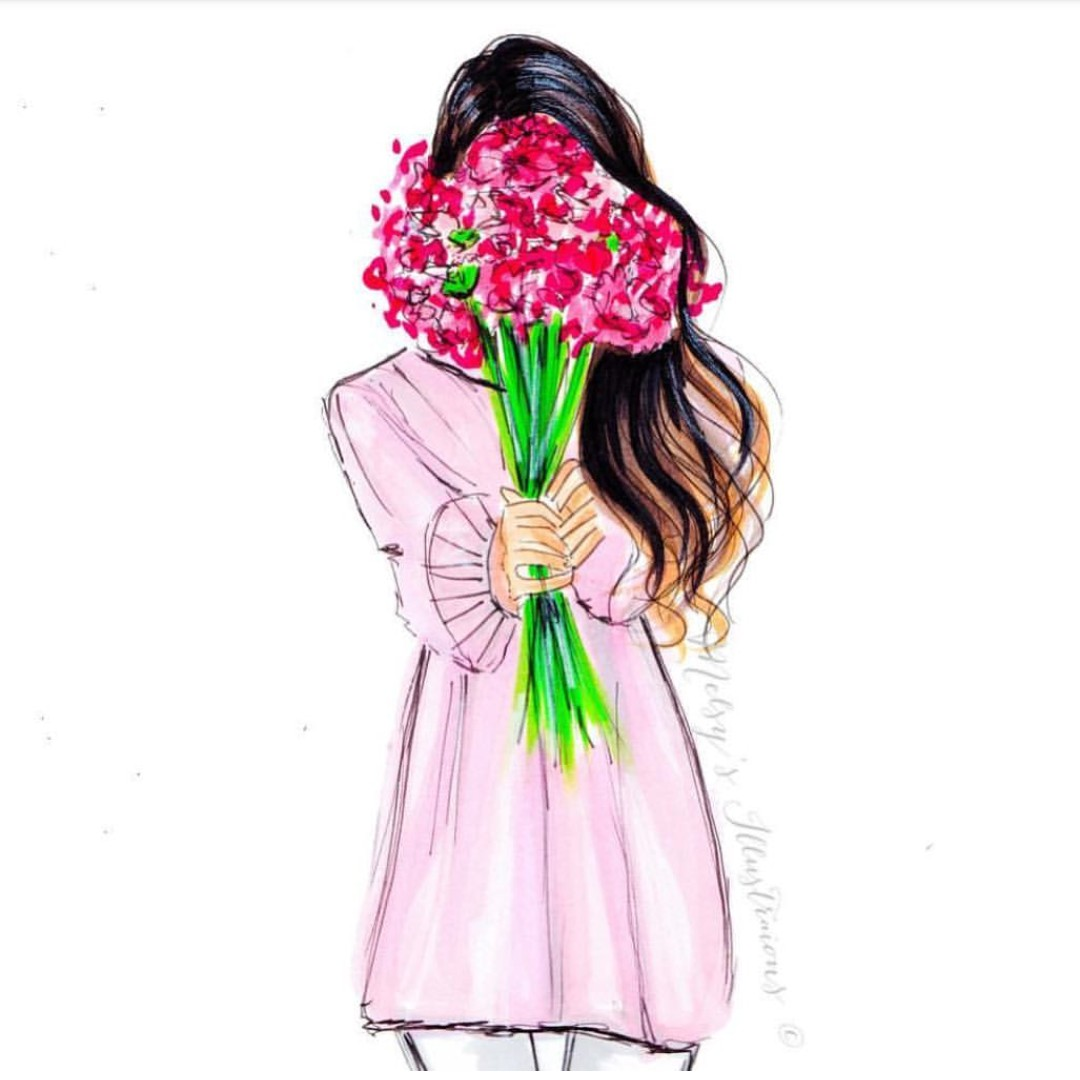 watercolor, flowers, fashion illustration and art work