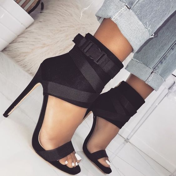 ankle, black, chic and fashion