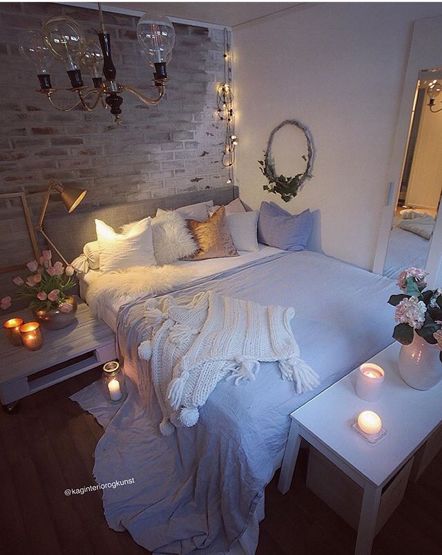 Dream, awesome, bed and candles