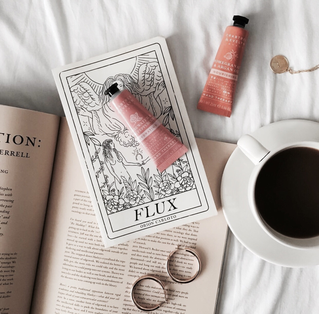 accessories, art, book and coffee