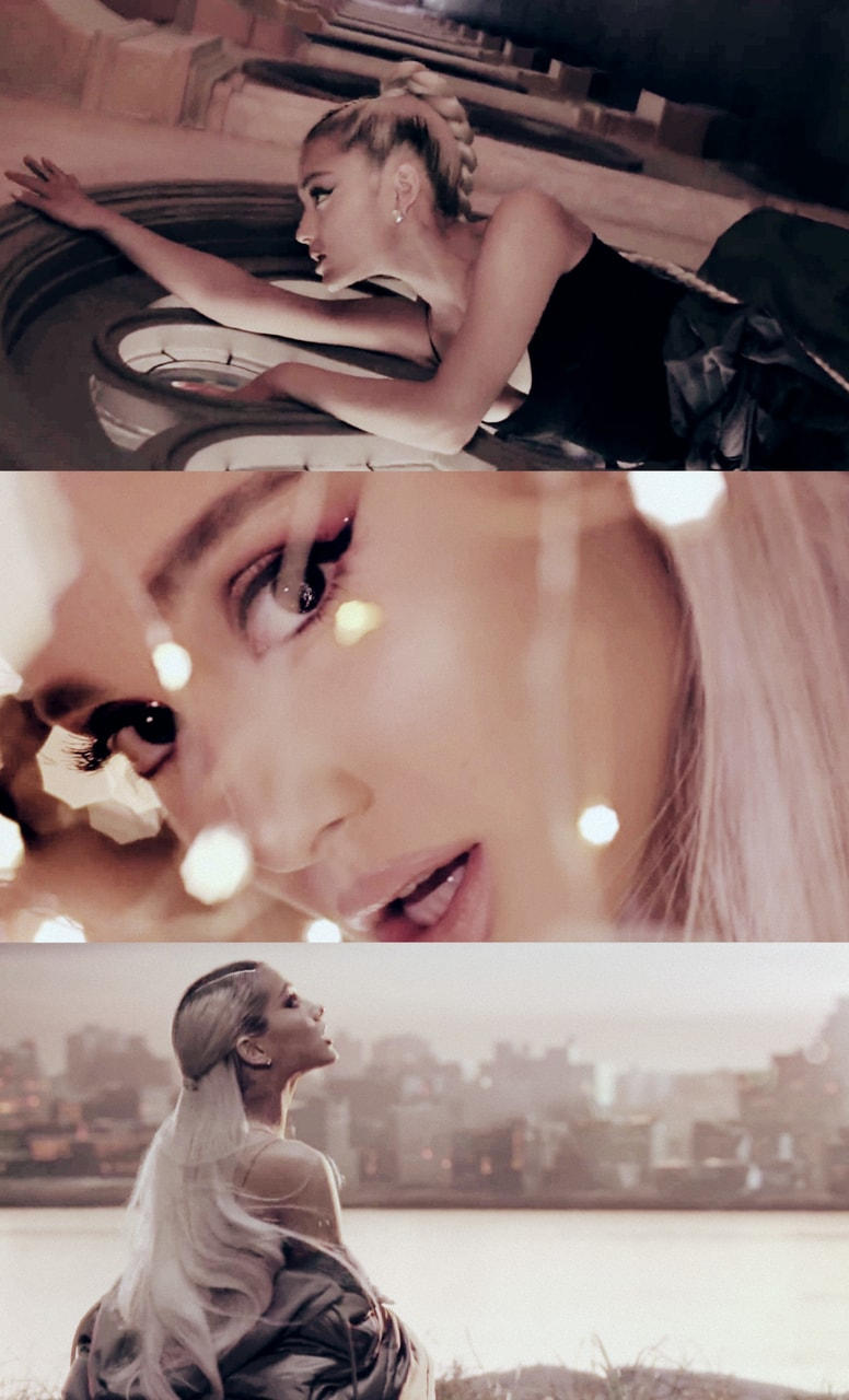 Collage, ariana grande, music video and no tears left to cry