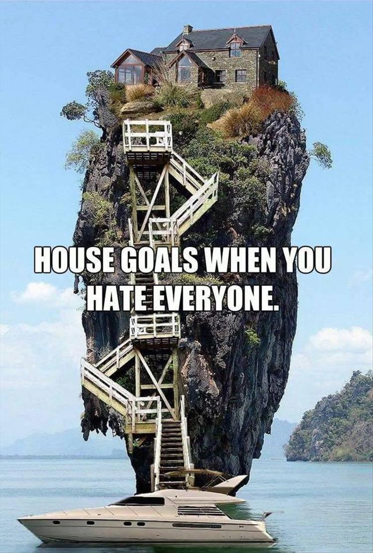 house goals, boat, meme and antisocial