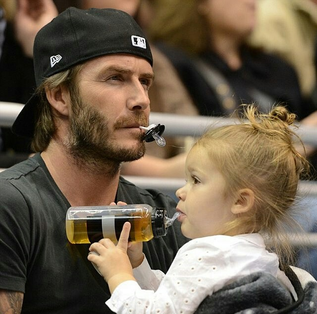 father daughter love and David Beckham