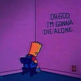 sad, the simpsons, deep and bart simpson